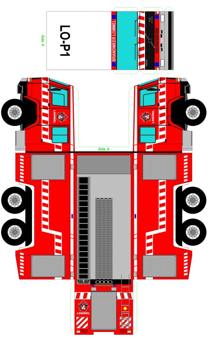 KleuterDigitaal - wb bouwplaat brandweerauto kl