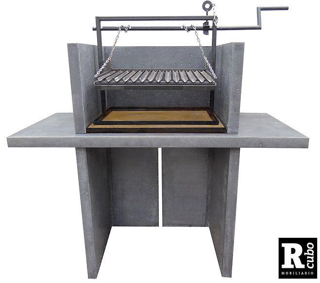 Muebles, quinchos y objetos vanguardista elaborados con una mezcla de cemento granítico. Sistema modular prefabricado.