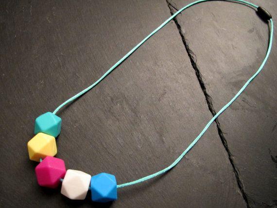 Collana dentizione Silicone colorato a di WhiteMagpieJewellery