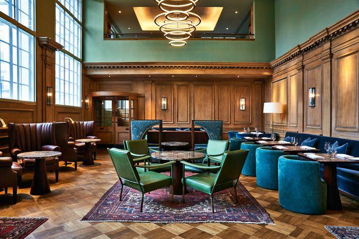 67 Pall Mall | Restaurant Interior Design Ideas. Restaurant Dining Chairs. Restaurant Lighting Ideas. Dining Room Chairs. #restaurantinterior #restaurantinteriors www.brabbucontract.com