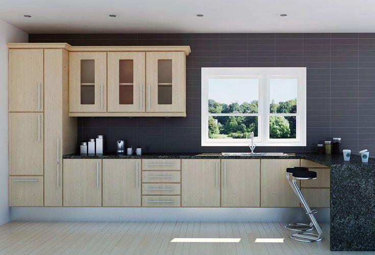 Elegant Limed Oak Kitchen Cabinets
