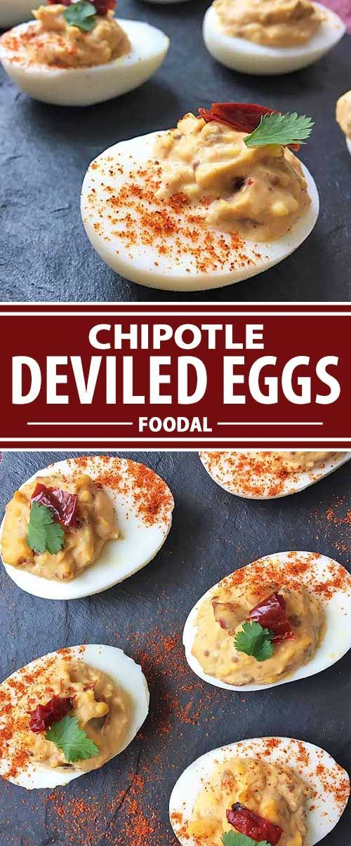 Need an appetizer that packs an exciting punch? Take a walk on the wild side, and make our deviled eggs that feature an incredible ingredient in the filling: canned chipotle peppers in adobo sauce. You'll get tons of smoky and spicy flavor in just one lit