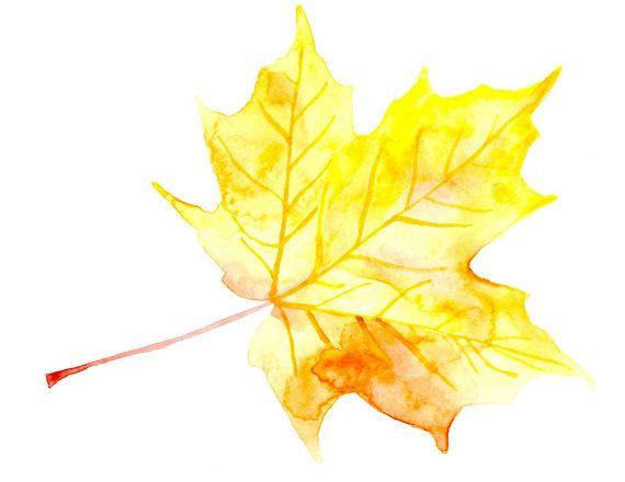 Fall leaf printable - Etsy - Little Pond Prints