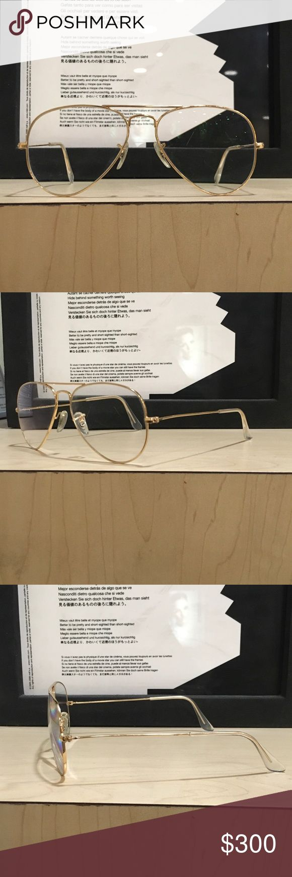 Ray ban aviators size 55-14 new These are ray bans aviators with clear lenses for fashion. I can add your prescription if it valid and you have your PD. Ray-Ban Accessories Glasses