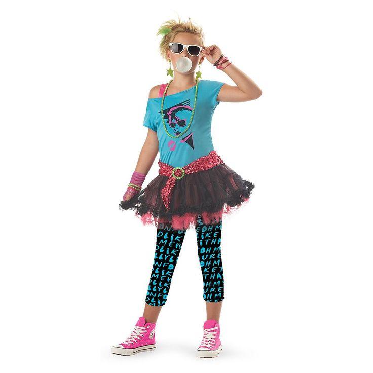 '80s Valley Girl Costume - Tween, Size: 10-12, Multicolor