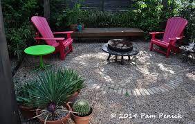 Mosaic gravel patio