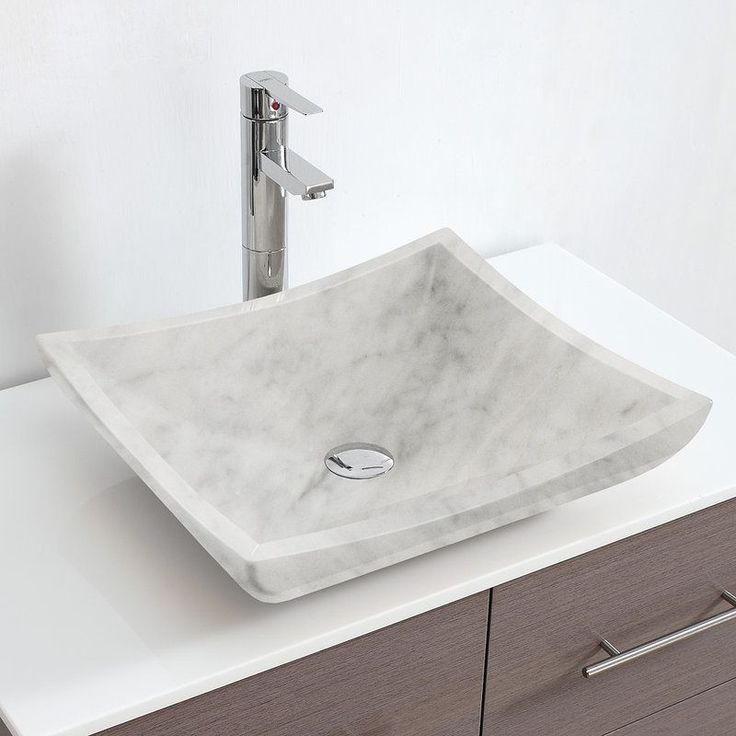 shop for the wyndham collection white carrera marble avalon rectangular white carrera marble vessel lavatory sink and save