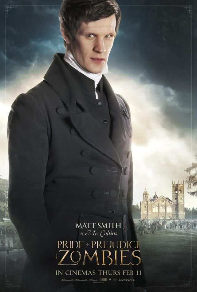 Pride and Prejudice and Zombies Mr. Collins Poster - Matt Smith