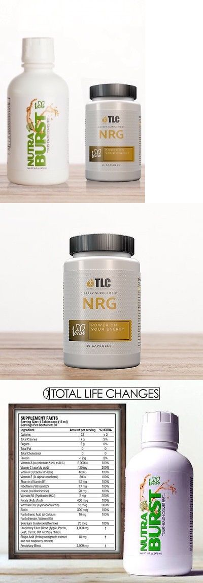 Appetite Control Suppressants: Total Life Changes Energy Kit With Nutraburst And Nrg Energy Vitamins Combo BUY IT NOW ONLY: $99.99