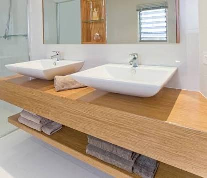 bathroom timber vanity grey industrial - Google Search