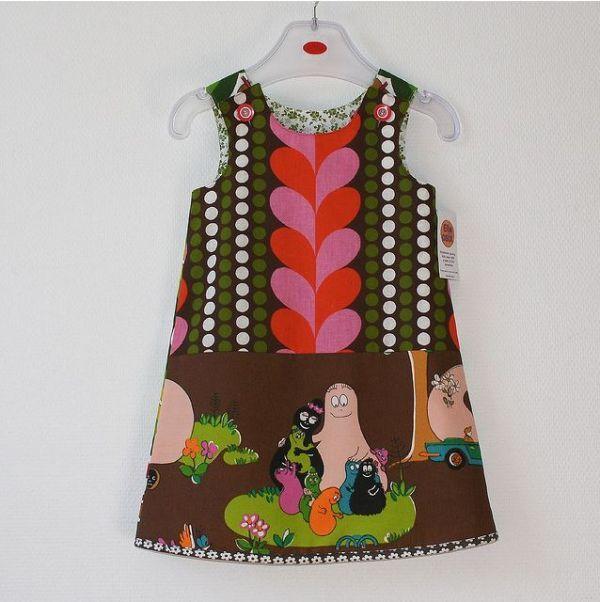super sweet retro Barbapapa dress