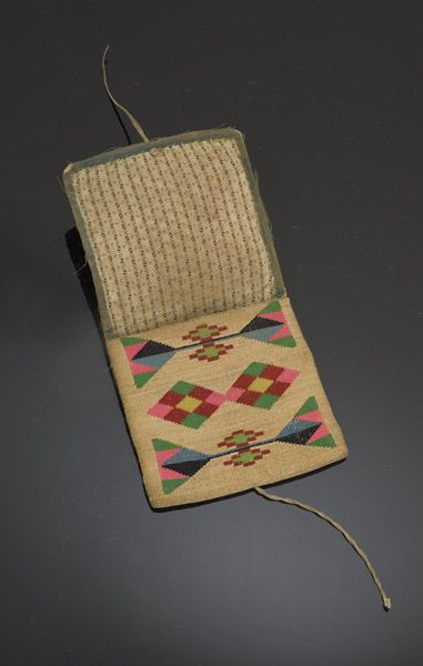 Nez Perce Corn Husk Wallet, - Cowan's Auctions