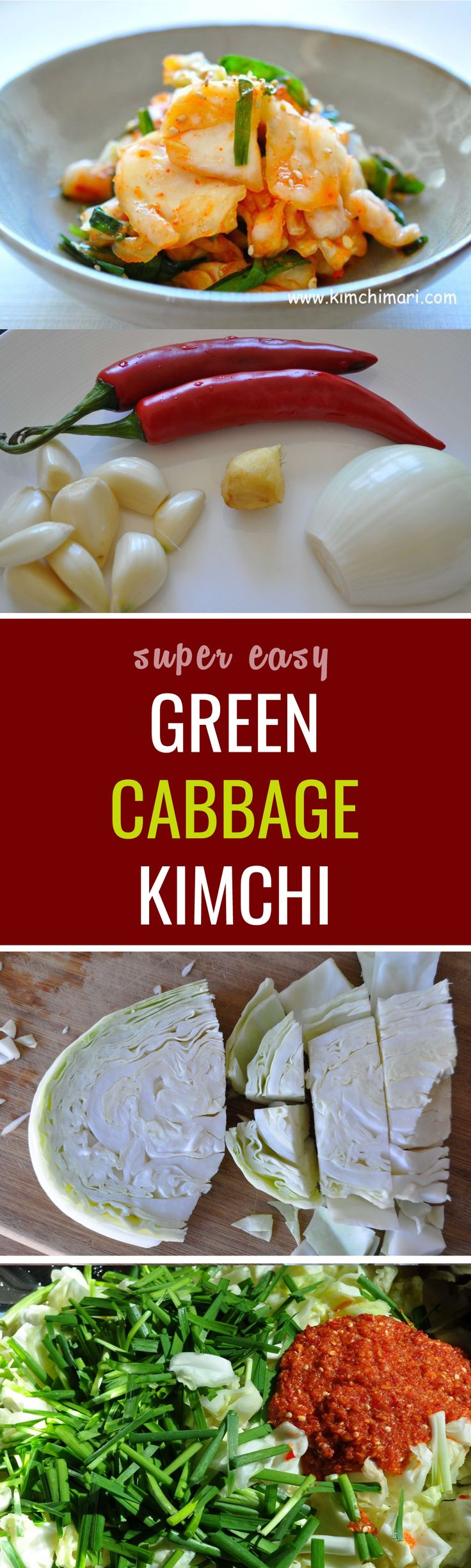 Fresh, sweet budget kimchi made with green cabbage!I first tasted cabbage kimchi in 1976 when when we moved to India. With no access to any kind of Korean vegetable, the only vegetable we could get was the good old cabbage.