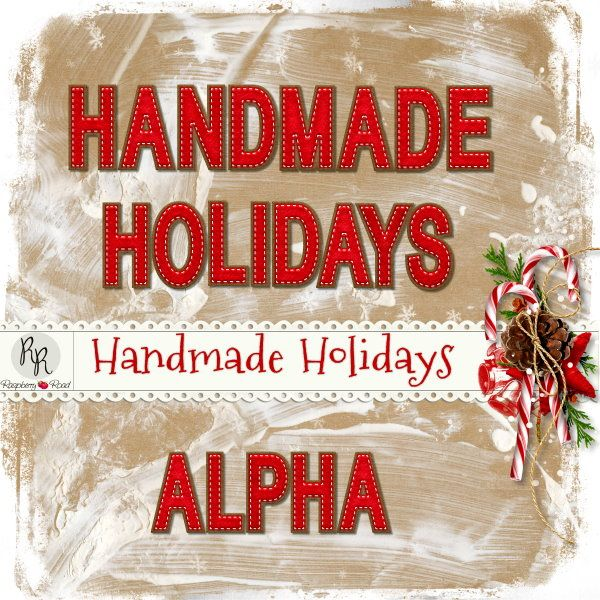 A handmade Christmas themed scrapbook collection from Raspberry Road.