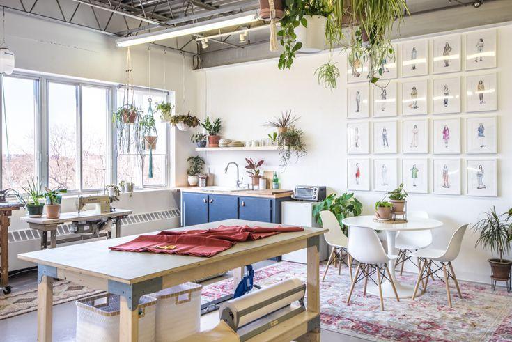 Our New Studio Space Closet Core Hq Design Studio Workspace Sewing Room Design Sewing Studio Organization