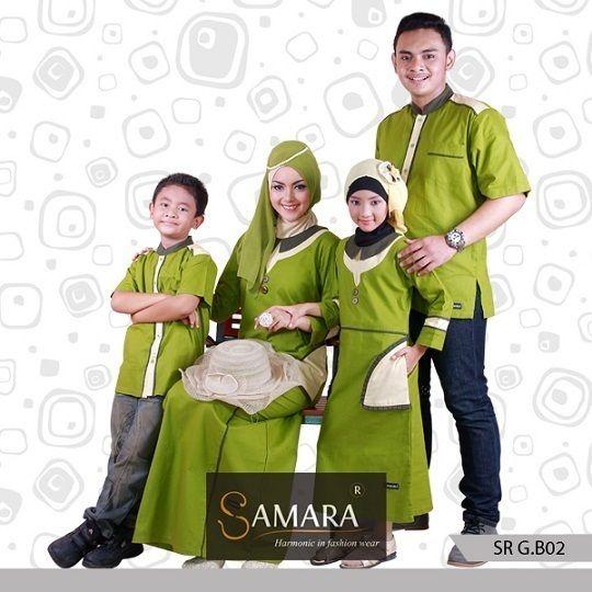 Baju Couple Keluarga 1 Anak,Baju Couple Muslim Lucu, samara  Warna hijau yang natural ketika dipakai akan sangat indah. Apalagi paduan designnya yang sangat manis, membuatnya sangat cantik saat dipakai dimanapun.  Sangat cocok pula untuk digunakan saat acara formal maupun non-formal. Berbahan dasar katun twill 40s yang nyaman. Membuat anda selalu nyaman memakainya seharian. Tidak gerah dan tidak mudah kusut.  Harga 1 Set Sarimbit B.02 Rp. 570.000,- Kode Koko : KB.02 Size : (Anak…