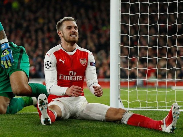 Arsenal midfielder Aaron Ramsey ruled out for three weeks with calf injury