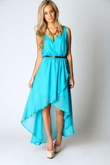 Beach wedding guest dresses - love the hi-low hem