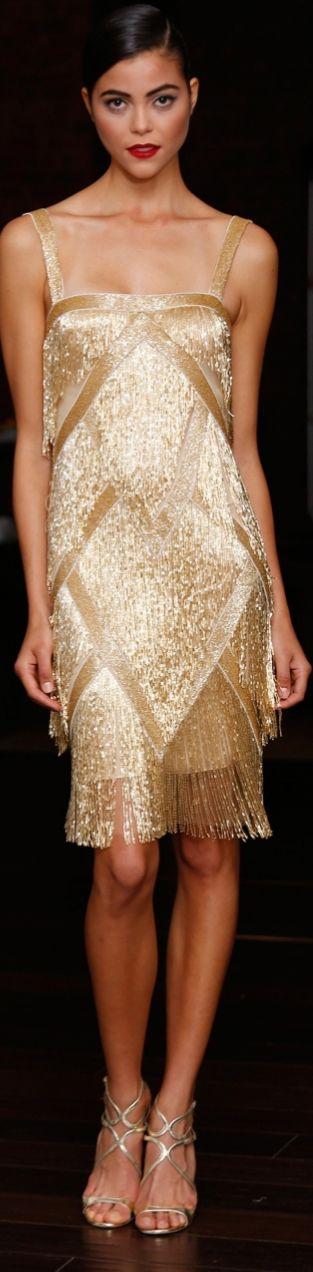This Naeem Khan Resort 2014 dress look like a revamped flapped dress!