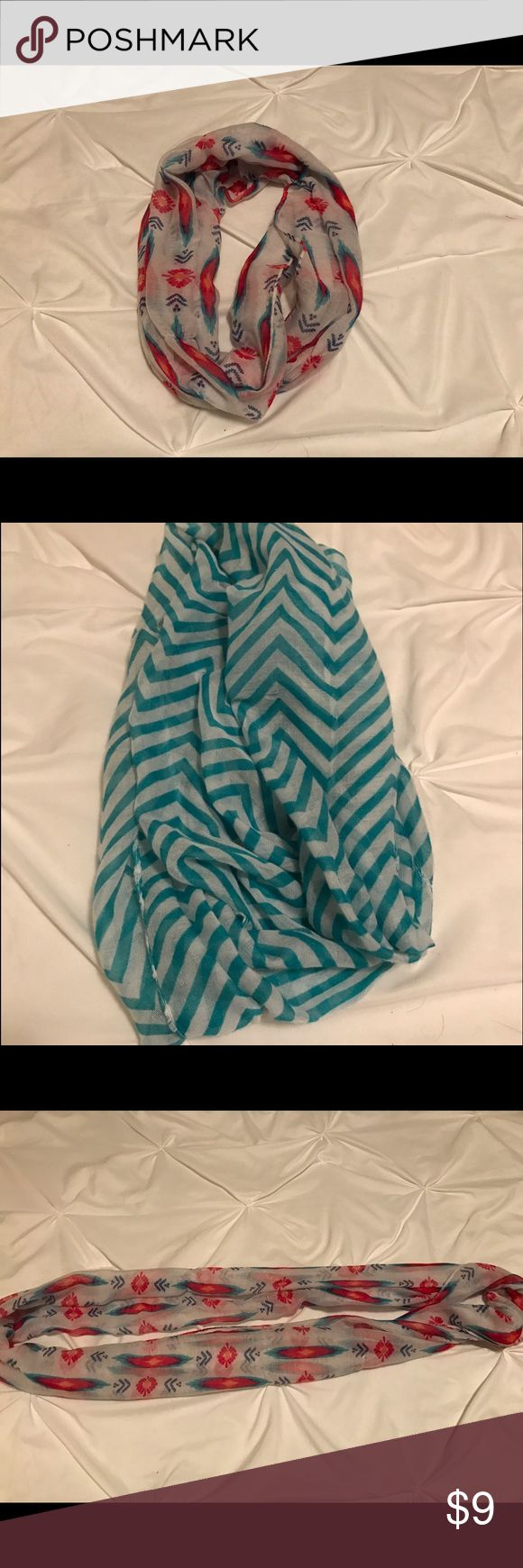 💕Two Infinity Scarves💕 DOUBLE DEAL‼️ Two infinity scarves that I will ship together. Perfect condition. Not used. Perfect colors for spring! Accessories Scarves & Wraps
