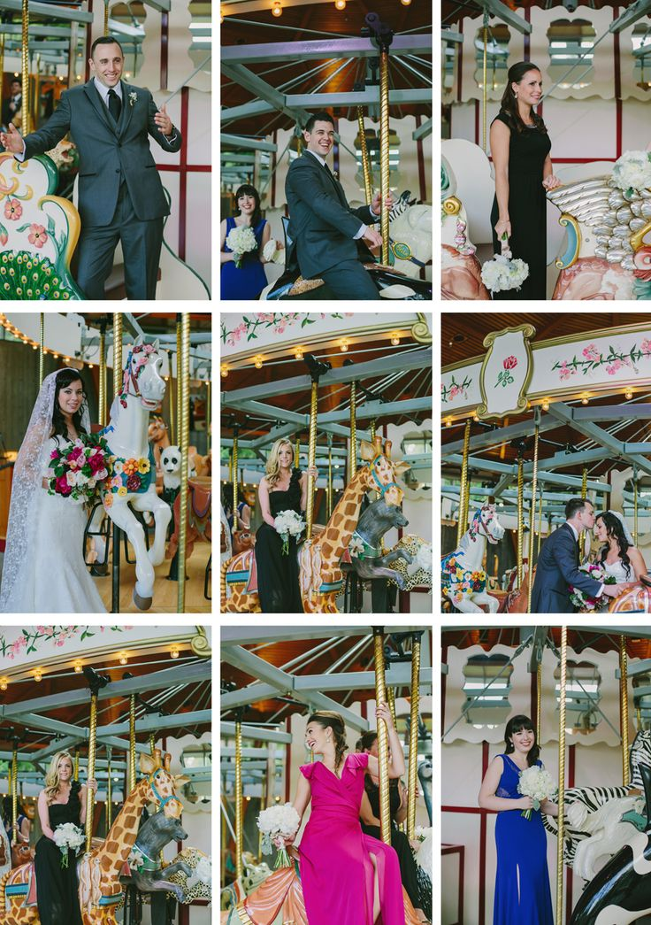 Wedding at The Butchart Gardens - photoshoot on the Rose Carousel. #wedding #butchartgardens #vancouverislandwedding #gardens #gardenwedding