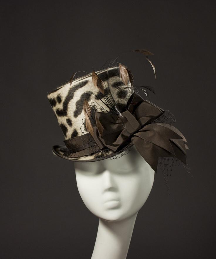 Leopard Print 'Wellington' Top Hat: Mini Top Hats, Tops, Leopards, Leopard Print Top, Leopard Prints, Beautiful Hats, Gear Hats, Fancy Hats