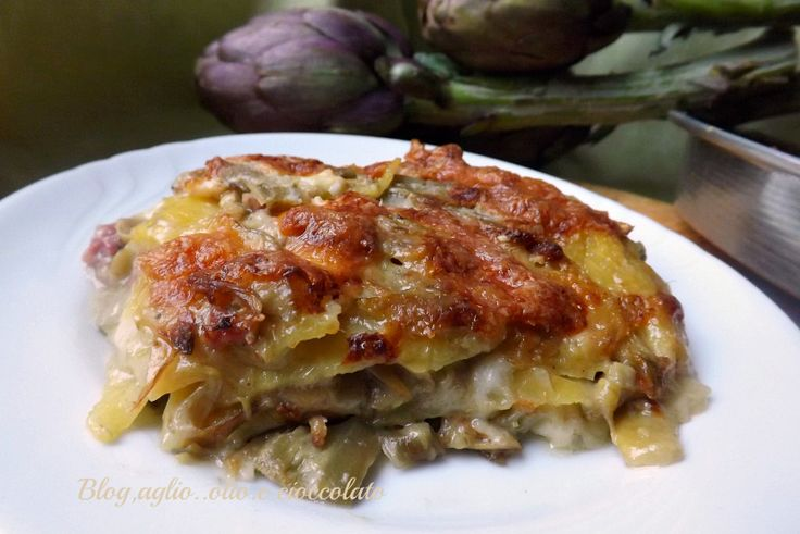 Il Tortino Patate e Carciofi,non poteva mancare!! Io adoro i carciofi e devo dire ,che con le patate si sposano benissimo!