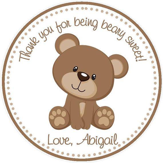 Teddy Bear Party Favor Tags on Etsy, $6.00