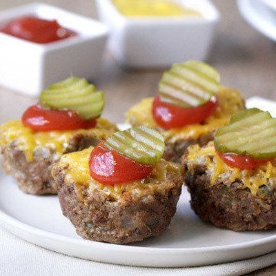 Healthy Hungry Girl Protein-Packed Recipes: Cheeseburger Mini Meatloaves