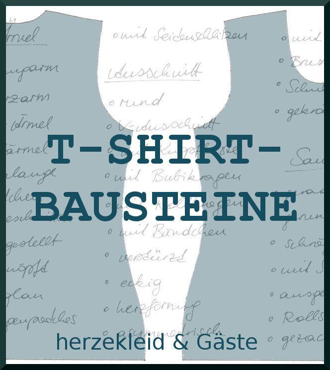 Viele Ideen rund ums T-Shirt-Nähen! Serie T-Shirt-Bausteine gibt viele Tricks für ein tolles T-Shirt preis