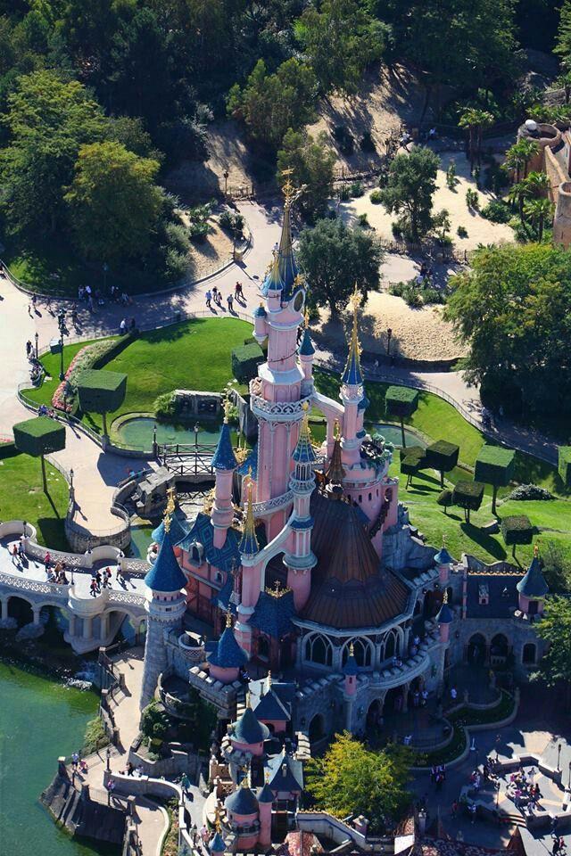 Sleeping Beauty Castle from above | Le Château de la Belle au Bois Dormant | Fantasyland | Disneyland Paris
