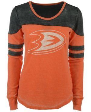 G3 Sports Women's Anaheim Ducks Hat Trick Thermal Long-Sleeve T-Shirt - Black XL