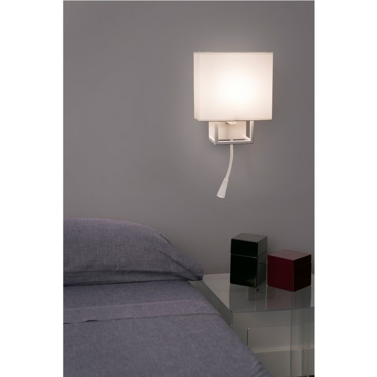 perfect applique vesper blanc avec liseuse led faro lumidesign luapplique vesper de la marque. Black Bedroom Furniture Sets. Home Design Ideas