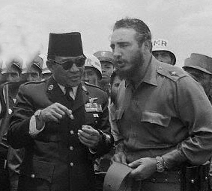 Soekarno & Fidel Castro
