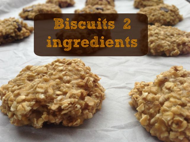 Biscuits 2 ingrédients au gruau et banane