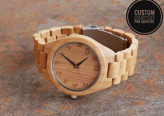 Men wood watch bracelet gift watch personalized wood