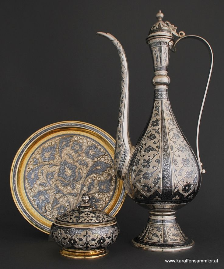 SILVER FROM THE EAST » Islamic Silver from the Middle East Art of Kubachi (Dagestan), Niello silver set