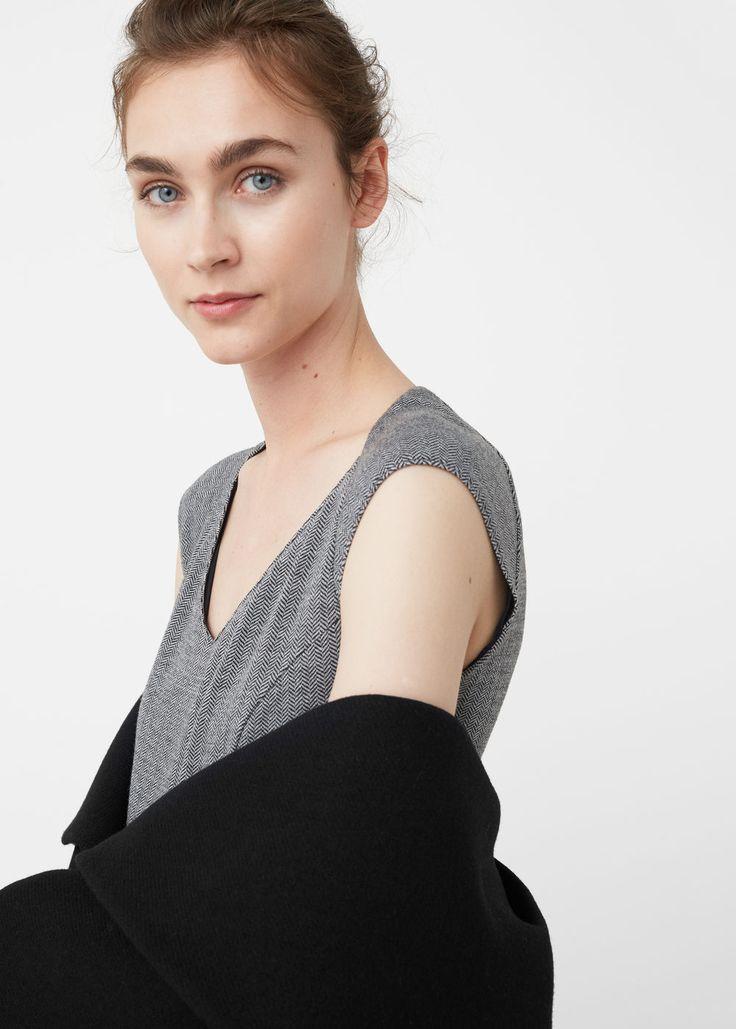 Halszálkás mintás ruha | MANGO