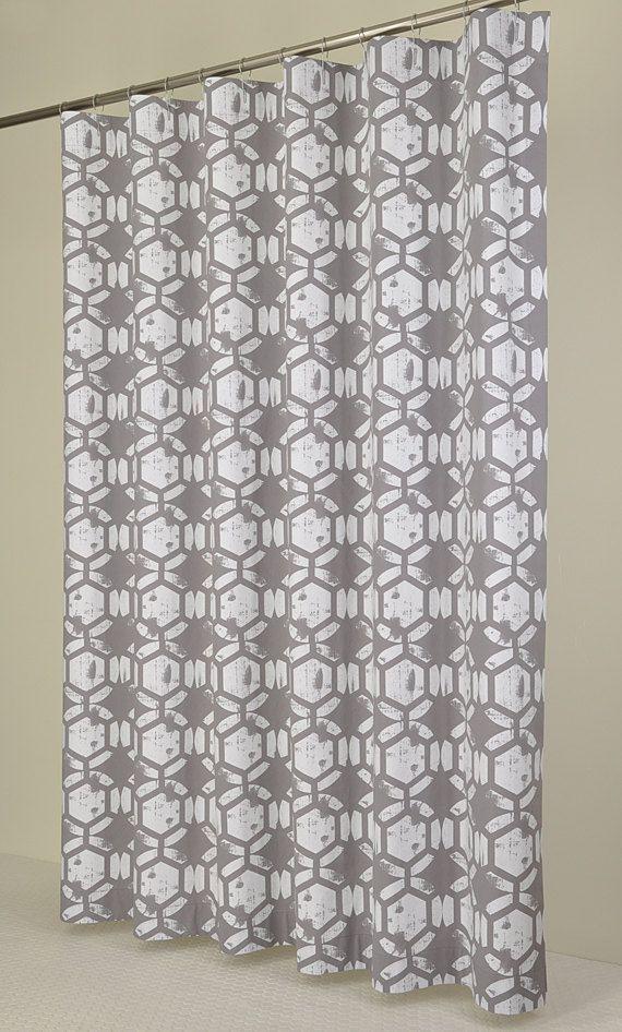84 Long Grey Amp White Shower Curtain 72 X 84 Long