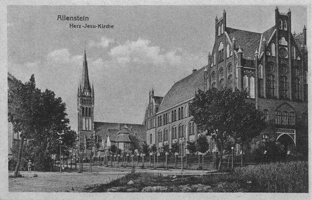 Szkoła Realna i Kościół Serca Jezusowego - 1916 r
