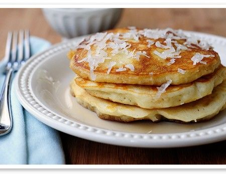 This sounds yummy. Might have to try them. Coconut Fluff Pancakes - I Quit Sugar