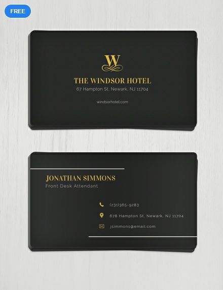 Free Minimal Business Card Free Business Card Design Templates