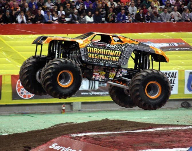 monster jam trucks   ... Monster Jam in the Carrier Dome. Meents won the freestyle event. Photo