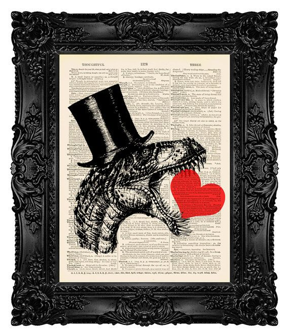 Dictionary Art Print - T-Rex 168