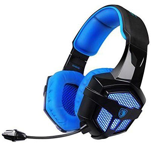 FarCry 5 Gamer  #Gaming #Headset with #Mic #Volume #Control #LED, #Yanni #Sades #SA806 3.5mm #Wired #Computer Over #Ear #Stereo #Headphones for #PC #MAC #Notebook #Gamers #Smart #Phone #Mobiles iPad(Black Blue)   Price:     Earmuffs use new generation PU leather, more skin-intimacy; reduce sweat and heat, more suitable for long time wearing. It can avoid the sweat and hot phenomenon.  Nickel plated plugs: It can not only ensure the better signal transmission and reduce the lo