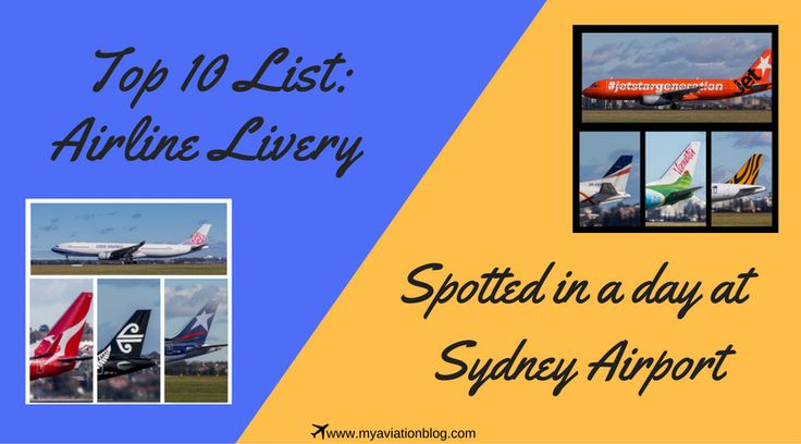 Top 10 Airline Livery Spotted in a Day at Sydney Airport,YSSY - plane logo spotting