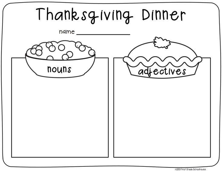 First grade thanksgiving writing activity for second