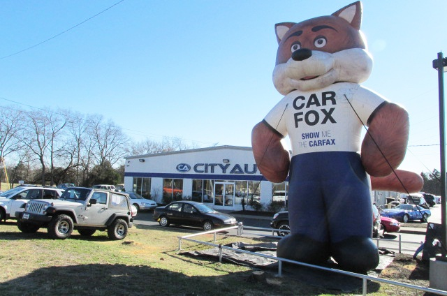 the 25 39 inflatable carfax car fox was at city auto murfreesboro from december 27 30 next time. Black Bedroom Furniture Sets. Home Design Ideas