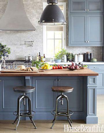 gray kitchen - House Beautiful