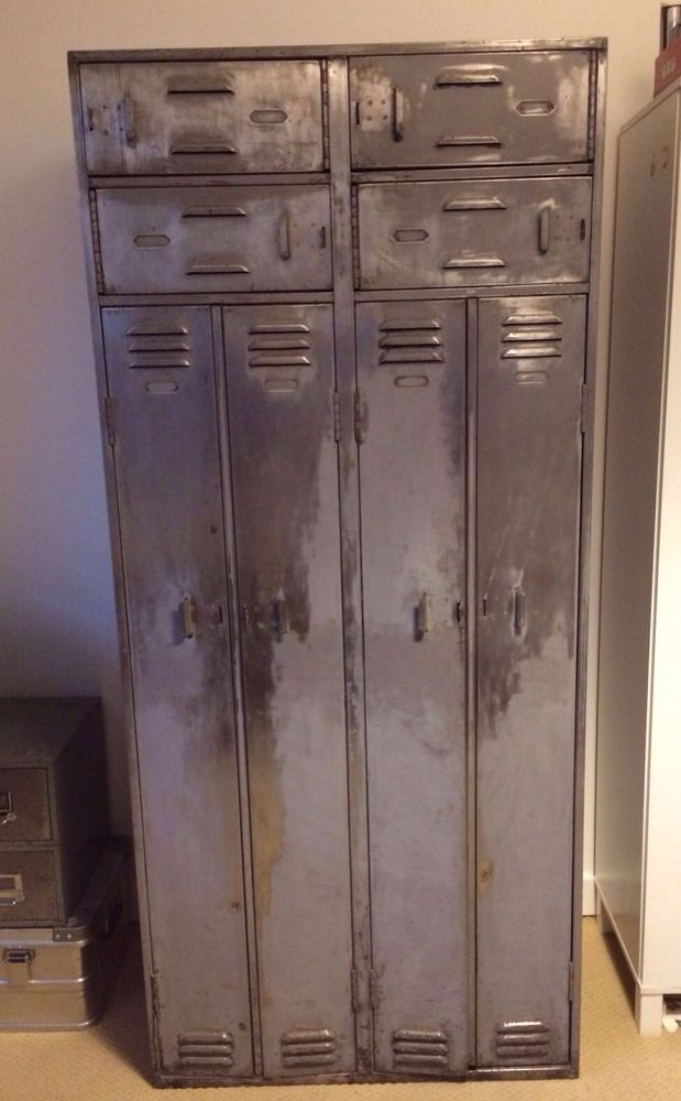 Amazing Vintage Industrial Metal Locker Cabinet Wardrobe Storage Retro Old School Amazing Pictures